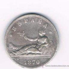 Monedas de España: 2 PESETAS GOBIERNO PROVISIONAL 1870 *18 *73. Lote 27544928