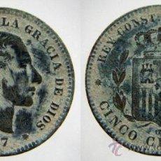 Monedas de España: 5 CENTIMOS 1877 ALFONSO XII. Lote 27582779
