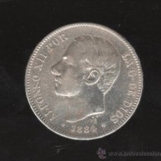 Monedas de España: MONEDA DE 5 PESETAS. ALFONSO XII. 1884 - M.S.M. ESTRELLA 84. Lote 27641247