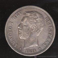 Monedas de España: MONEDA DE 5 PESETAS. AMADEO I. 1871 - D.E.M. ESTRELLA 74. Lote 27654502