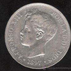 Monedas de España: MONEDA DE 5 PESETAS. ALFONSO XIII. 1897 - S.G.V ESTRELLA 97. Lote 27665868