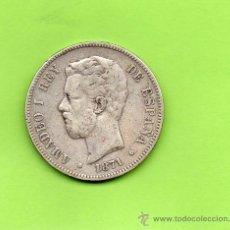 Monedas de España: MONEDA 5 PESETAS. AMADEO I REY DE ESPAÑA. AÑO 1871. DEM. ESTRELLAS 18 75. DURO PLATA. ESPAÑA. Lote 28105217