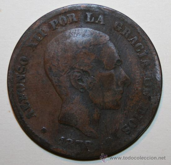 MONEDA 10 CÉNTIMOS ALFONSO XII 1878 (Numismática - España Modernas y Contemporáneas - De Isabel II (1.834) a Alfonso XIII (1.931))