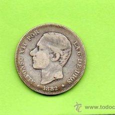 Monedas de España: MONEDA 2 PESETAS. ALFONSO XII. AÑO 1882. ESTRELLAS -- 82. MSM. PLATA. ESPAÑA.. Lote 28112007
