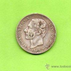 Monedas de España: MONEDA 2 PESETAS. ALFONSO XII. 1882. MSM. ESTRELLAS 18 82. PLATA. ESPAÑA.. Lote 201276731