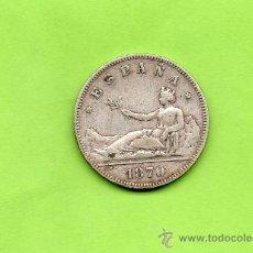 Monedas de España: MONEDA 2 PESETAS. GOBIERNO PROVISIONAL. ESPAÑA. AÑO 1870. ESTRELLAS 18 74. DEM. PLATA.. Lote 28230436