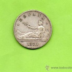 Monedas de España: MONEDA 2 PESETAS. GOBIERNO PROVISIONAL. ESPAÑA. AÑO 1870. ESTRELLAS 18 74. DEM. PLATA.. Lote 28230525