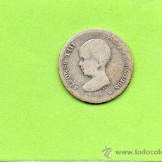 Monedas de España: MONEDA 1 PESETA. AÑO 1891. PGM. ALFONSO XIII. ESPAÑA. PLATA.. Lote 28249462