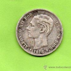 Monedas de España: MONEDA 5 PESETAS. AÑO 1878. ESTRELLAS -- --. DEM. ALFONSO XII. ESPAÑA. PLATA.. Lote 28270476