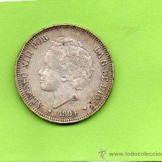 Monedas de España: MONEDA 5 PESETAS. AÑO 1894. ESTRELLAS 18 94. PGV. ALFONSO XIII. RIZOS. ESPAÑA. PLATA.. Lote 28270517