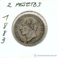 Monedas de España: RARA Y ESCASA 2 PESETAS DE PLATA ALFONSO XII AÑO 1883, MUY BARATA. MIRA EL RESTO DE MIS ARTICULOS. Lote 38575107
