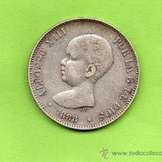 Monedas de España: MONEDA 5 PESETAS. AÑO 1888. ESTRELLAS -8 88. MPM. ALFONSO XIII. PELÓN. ESPAÑA. PLATA.. Lote 28289293