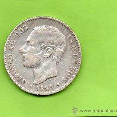Monedas de España: MONEDA 5 PESETAS. AÑO 1883. ESTRELLAS -8 83. MSM. ALFONSO XII. ESPAÑA. PLATA.. Lote 28289503