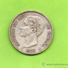 Monedas de España: MONEDA 5 PESETAS. AÑO 1875. ESTRELLAS -- 75. DEM. ALFONSO XII. ESPAÑA. PLATA. DURO.. Lote 28294690