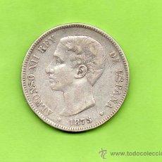 Monedas de España: MONEDA 5 PESETAS. AÑO 1875. ESTRELLAS -- 7-. DEM. ALFONSO XII. ESPAÑA. PLATA. DURO.. Lote 28294715
