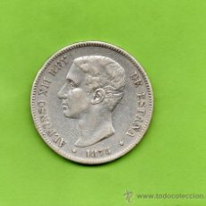 Monedas de España: MONEDA 5 PESETAS. AÑO 1875. ESTRELLAS -- 7-. DEM. ALFONSO XII. ESPAÑA. PLATA. DURO.. Lote 28294753