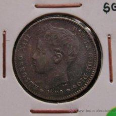 Monedas de España: ALFONSO XIII: 1 PESETA 1899 SGV. Lote 28460627