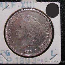 Monedas de España: ALFONSO XIII: 5 PESETAS 1893 PGL, PLATA. Lote 28465545
