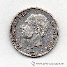 Monedas de España: ALFONSO XII. 2 PESETAS. AÑO 1879. PLATA.. Lote 139017400