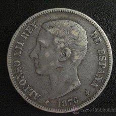 Monedas de España: 5 PESETAS ALFONSO XII 1876 PLATA. Lote 28716192