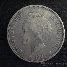 Monedas de España: 5 PESETAS ALFONSO XIII 1894 PGV . Lote 28716755