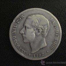 Monedas de España: 2 PESETAS ALFONSO XII 1882 - MONEDA DE PLATA. Lote 28720098