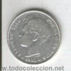 Monedas de España: MONEDA.1 PESETA.ALFONSO XIII.NIÑO.PLATA.AÑO 1901.ESTRELLAS VISBLES 19-01. BONITA.SMV.UNA. Lote 28736524