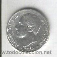 Monedas de España: RARA MONEDA.1 PESETA.UNA.ALFONSO XII.AÑO 1885.ESTRELLAS 18-85.MSM. RESTO DE BARBA. ESTERITA. . Lote 28736648