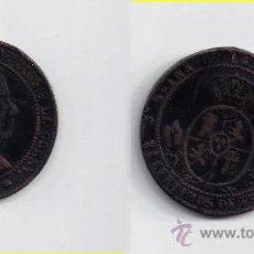Monedas de España: ISABEL II - 2 1/2 CENTIMOS ESCUDO 1867 BARCELONA. Lote 28763730