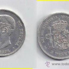Monedas de España: ALFONSO XII 5 PESETAS 1875 * 18-75. Lote 29022341