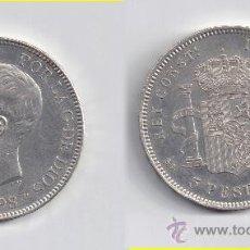 Monedas de España: ALFONSO XIII: 5 PESETAS 1898 * 18-98. Lote 29022394