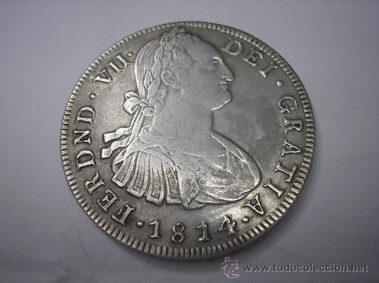 8 REALES DE 1814 JF. POPAYAN. .REY FERNANDO VII.CARA DE CARLOS IV (Numismática - España Modernas y Contemporáneas - De Reyes Católicos (1.474) a Fernando VII (1.833))