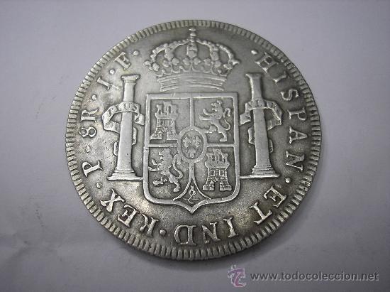 Monedas de España: 8 REALES DE 1814 JF. POPAYAN. .REY FERNANDO VII.CARA DE CARLOS IV - Foto 2 - 29120393