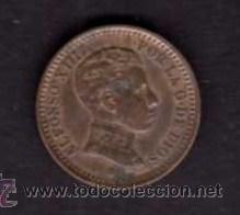 MONEDA DE 2 CÉNTIMOS 1905 - ALFONSO XIII (Numismática - España Modernas y Contemporáneas - De Isabel II (1.834) a Alfonso XIII (1.931))