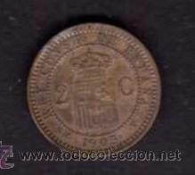 Monedas de España: MONEDA DE 2 CÉNTIMOS 1905 - ALFONSO XIII - Foto 2 - 29509008