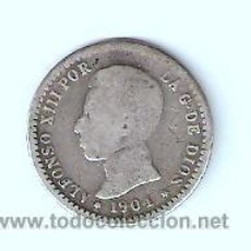 Monedas de España: 50 CENTIMOS ALFONSO XIII 1904 SMV . Lote 29620701