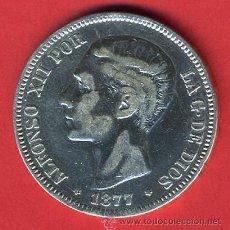 Monedas de España: MONEDA 5 PESETAS 1877 ,ESTRELLAS 18-77 , DURO DE PLATA , ALFONSO XII , MBC, D828. Lote 29674382