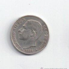 Monedas de España: ALFONSO XII: 50 CENTIMOS 1881 ( PLATA ). Lote 29819352