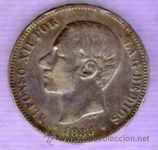 MONEDA DE 5 PESETAS - ALFONSO XII - 1985 - *18-87 - MP M (Numismática - España Modernas y Contemporáneas - De Isabel II (1.834) a Alfonso XIII (1.931))