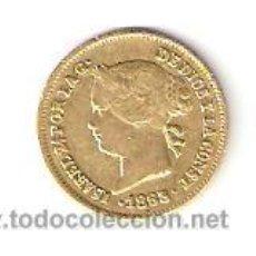 Monedas de España: UN PESO,ORO ISABEL II 1863 . Lote 29930159