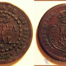 Monedas de España: DECIMA DE REAL ISABEL II SEGOVIA 1853. Lote 30031234