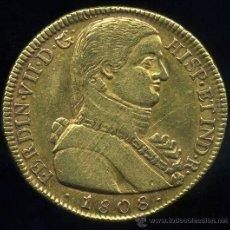 Monedas de España: MUY RAROS 8 ESCUDOS (ONZA) DE ORO - FERNANDO VII - SANTIAGO DE CHILE 1808 - BUSTO DE ALMIRANTE. Lote 30180337