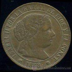 Monedas de España: 1/2 (MEDIO) CENTIMO DE ESCUDO ISABEL II BARCELONA 1868. Lote 30379062