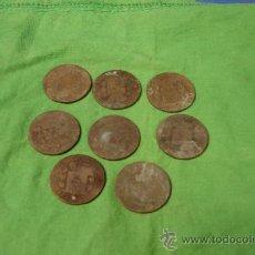 Monedas de España: MONEDAS DE ALFONSO XII ACUÑADAS EN 1877 - LOTE DE 8 UNIDADES. Lote 30710859