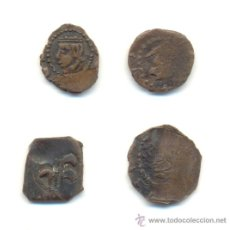 Monedas de España: 35- LOTE DE CUATRO DINEROS DE VALENCIA FALSOS DE ÉPOCA. A CLASIFICAR.. Lote 30705102