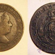Monedas de España: ISABEL II 2 Y 1/2 CENTIMOS DE ESCUDO 1868 JUBIA. Lote 30796399