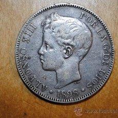 Monedas de España: 1898. DURO DE PLATA. ALFONSO III. 5 PESETAS.. Lote 30951031