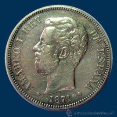 Monedas de España: AMADEO I . DURO DE PLATA . 5 PESETAS 1871 *75. Lote 31152019