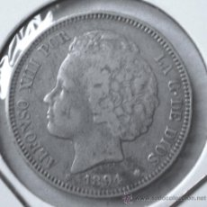 Monedas de España: ALFONSO XIII 2 PESETAS 1894 RARA SE ACUÑARON 278.810 MONEDAS VER FOTOS. Lote 31223024