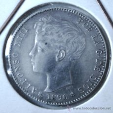 Monedas de España: ALFONSO XIII 1 PESETA 1896*96 VER FOTOS. Lote 31276085